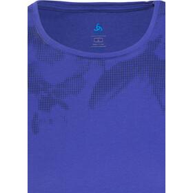 Odlo Signo Shirt S/S Crew Neck Women spectrum blue-placed print SS17